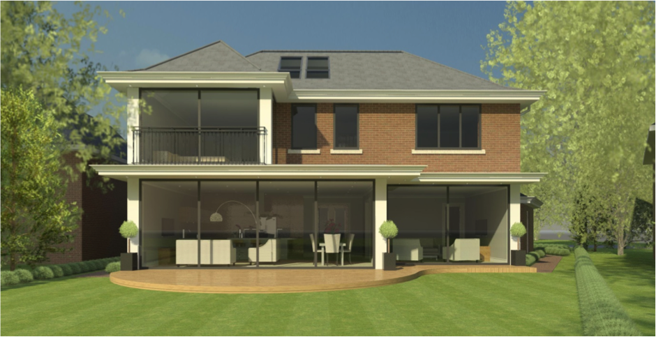 Structural design new build house surrey kmass for Modern house designs uk