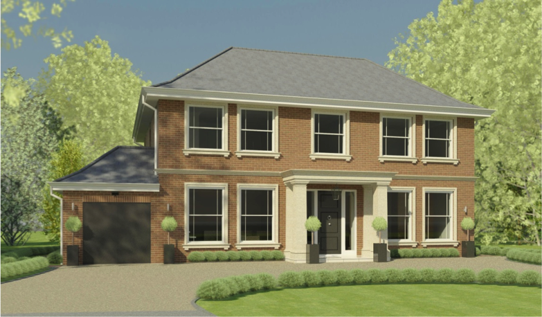 Structural design new build house surrey kmass for New build house designs